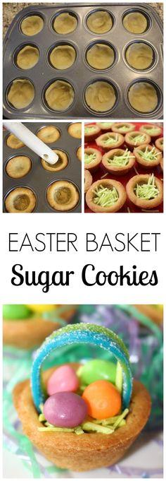 Easter Basket Sugar Cookies - Easy as 1-2-3