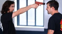 How to Defend against a Gun to the Face | Krav Maga Defense Self Defense Tips, Self Defense For Women, Home Defense, Self Defense Techniques, Krav Maga Techniques, Krav Maga Self Defense, Mma, How To Fight, Full Nelson