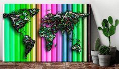 Decorative pinboard - Pencil World. Beautiful cork maps by GLIX Cork Map, Cork Bulletin Boards, Map Art, The Ordinary, Screen Printing, Original Artwork, Create Your Own, Pencil, Wall Decor