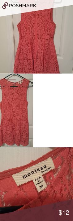Salmon colored lace dress Salmon colored lace dress Monteau Dresses Mini