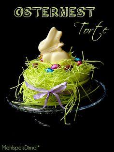 MehlspeisDirndl*: Frohe Ostern! ...ein süßes Nest für meinen Osterhasen!
