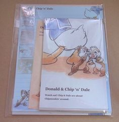 Disney  Clarice Chip  Dale Greeting Letter Set  Envelope