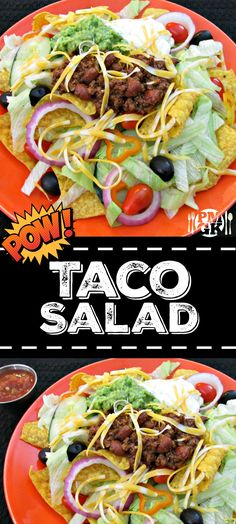 3 cheese chili con queso gourmet salsa and american food recipes how to make taco salad if you do it right taco salad can be amazing forumfinder Choice Image