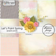 Available for just $1 during Pickleberrypop's PICKLE BARREL PROMO through March 24 at 11:59 p.m. EDT! Shop fast to save BIG! Let's Paint Spring papers pack by Tiramisu design