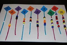 1 to 1 correspondence worksheets | Wikki Stix Kites for One-to-One Correspondence