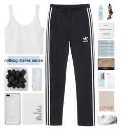 """COLLAB WITH ASTRID"" by constellation-s ❤ liked on Polyvore featuring adidas Originals, Christian Dior, Christy, Surya, NARS Cosmetics, Byredo, Aesop and Aveda"