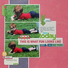 This is What Fun Looks Like layout by Kim Holmes via Jillibean Soup Blog