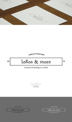 Instant Logo Design. Boutique Logo. Website Header. Photography Watermark. Simple DIY Business Branding. Editable PSD Template. #0051.