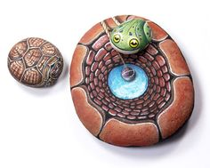 Rock Paintings by Italian Artist Ernestina Gallina Turns River Stones into Living Rocks (68)