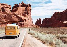 Longing for that vanlife. Who's up for a road trip? . Credit: Dino Reichmuth . . . #vanlifediaries #vw #roadtrip #vanlife #exploreusa #vanlifeadventures #vandwellinglife #ontheroad #yellowvan #adventuremobile #adventure #exploreutah #desertlandscape