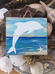 Pallet Wall Art - Pallet Art - Pallet Sign - Ocean Art - Ocean Sign - Coastal Decor - Dolphin Art - Beach Art - Starfish Decor - Beach Sign by BeachSignsandDesigns on Etsy