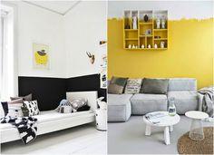 Design for Love : Nuove tendenze: dipingere le pareti a metà in modo creativo