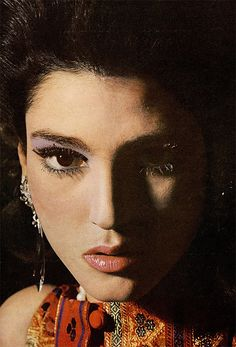 Benedetta Barzini photographed by Bert Stern for a Beauty Editorial in Vogue US, March 1965