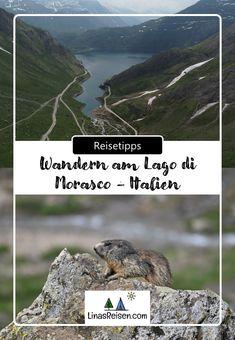 Der Lago die Morasco ist ein Stausee auf 1.815 m. ü. M. Er liegt auf der italienischen Seite des Griespasses im Formazza-Tal und bietet ein wunderschönes Ausflugsziel. In diesem Beitrag stellen wir euch einige Wanderungen am Lago di Morasco vor Mountains, Nature, Travel, Road Trip Destinations, Travel Advice, Hiking, Italy, Viajes, Naturaleza