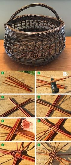 Crafts To Make, Fun Crafts, Arts And Crafts, Willow Weaving, Basket Weaving, Weaving Projects, Craft Projects, Craft Ideas, Coffee Cup Crafts