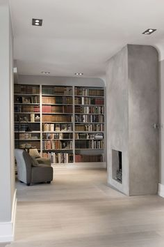 Modern library, by Cathrine Vågsmyr Mørch. Home Library Design, Modern Library, Loft Design, Interior Architecture, Interior Design, Home Libraries, Fireplace Wall, Interior Photography, Scandinavian Home