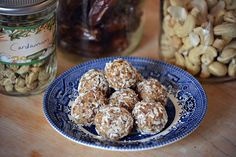 cardamom cashew balls from Heather - oh yum!