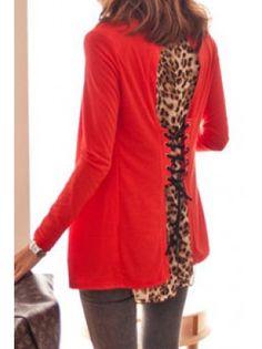 Leopard Back Gauze Cardigan