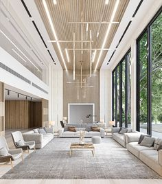 Modern Mansion Interior, Interior Architecture, Modern House Design, Modern Interior Design, Future House, Marble House, Dream House Exterior, Modern Room, High Ceiling Living Room Modern