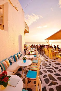 Griekse eiland Mykonos geeft een typisch zomers beeld #zomer #Griekenland #Mykonos
