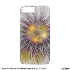 Luminous Flower, Abstract Fractal Art iPhone 7 Plus Case