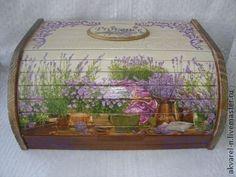 "Хлебница ""Provence"" - бежевый,хлебница,хлебница из дерева,хлебница декупаж"