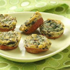 Mini Spinach Frittatas Recipe from Taste of Home -- shared by Nancy Statkevicus of Tucson, Arizona