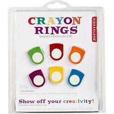 crayon rings - for easter basket