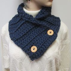 Navy Blue Chunky Scarf, Crochet Scarves, Knit Scarf, Fashion Scarves, Chunky Scarf, Womans Scarves, Fall Scarves, Fabiana B1-015 by CeciliaAnnDesigns on Etsy