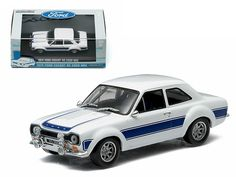 1974 Ford Escort RS 2000 MKI Blue 1/43 Diecast Car Model by Greenlight - Limited Edition. Detailed interior, exterior. Comes in plastic display showcase. Dimensions approximately L-5 inches long.-Weight: 1. Height: 5. Width: 9. Box Weight: 1. Box Width: 9. Box Height: 5. Box Depth: 5