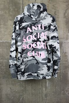 5fc01cbacb58 Anti Social Social Club Camo Pink Hoodie Male Outfits