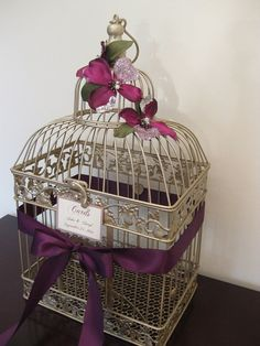 Champagne Bird Cage Wedding Card Holder /  by SouthburyTreasures, $58.00