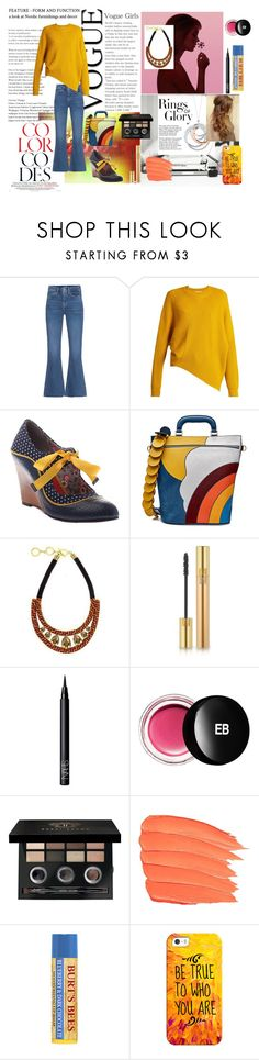 """Example set for 'A little flare!' contest!/Cropped flare jeans!"" by sarah-m-smith ❤ liked on Polyvore featuring M.i.h Jeans, STELLA McCARTNEY, Anya Hindmarch, Forest of Chintz, Tiffany & Co., Yves Saint Laurent, NARS Cosmetics, Edward Bess, Bobbi Brown Cosmetics and Casetify"