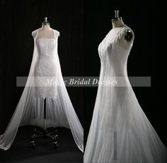Noble Queen Style Sheath Short Wedding Dress by MagicBridalDresses