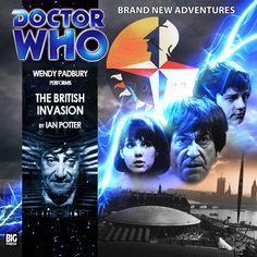 The British Invasion Wendy Padbury, Ian Potter, Big Finish, Second Doctor, Audio Drama, British Invasion, Cd Cover, New Adventures, Favorite Tv Shows