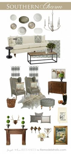 Southern Charm: tips and inspiration for adding luxurious Southern style to your. Southern Charm: tips and inspiration for adding luxurious Southern style to your home Source by Remodelaholic. Home Living Room, Living Room Decor, Country Style Homes, Low Country, Country Farmhouse, Country Chic, Farmhouse Decor, Trendy Home, Southern Living
