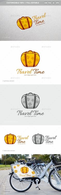 Travel Time Logo Template — Photoshop PSD #vacation #travel • Available here → https://graphicriver.net/item/-travel-time-logo-template/14239863?ref=pxcr