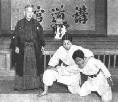 Jigoro Kano teaching Judo at the Kodokan