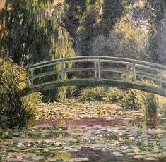 The Japanese Footbridge, Giverny By Claude Monet Wall Art, Canvas Prints, Framed Prints, Wall Peels Famous Paintings Monet, Impressionist Paintings, Wall Art Prints, Canvas Prints, Big Canvas, Framed Prints, Green Facade, Natural Scenery, Large Painting