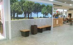 Mobiliario de Kirkus Innova en acero y madera #bancos #papelera #furniture
