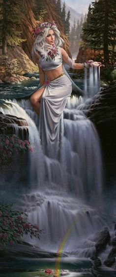 Coventina a Scottish Water Goddess in GG book, Hole 5 ~ Balance & Hole 14 ~ Flexibility