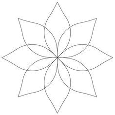 Stencil - Continuous Flower 6 inch by Quilting Creations Mylar Quilt Stencil Hand Embroidery Patterns Free, Hand Quilting Patterns, Quilting Stencils, Free Motion Quilting, Quilting Projects, Quilting Designs, Drawing Templates, Butterfly Drawing, Stained Glass Patterns