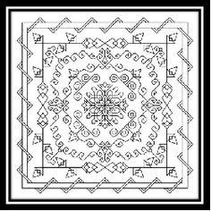 Several free blackwork patterns
