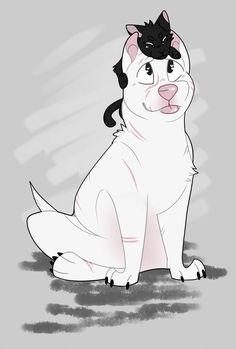 kitbull by moonaloo on DeviantArt Cute Kawaii Drawings, Cute Animal Drawings, Animal Sketches, Cartoon Drawings, Cartoon Movie Characters, Amazing Drawings, Geckos, Cute Comics, Furry Art
