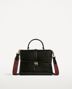 Image 2 of FABRIC HANDLE CITY BAG from Zara