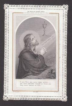 Antique Holy Card - Canivet - Lace - Santino - Image Pieuse U32 Vintage Holy Cards, Jesus Painting, Heart Of Jesus, Bible Art, Sacred Heart, See Photo, Jesus Christ, Catholic, Prayers