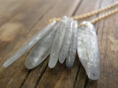 Necklace Exotic BlueGrey Rough Finished Kyanite by AnnalisJewelry, $42.00