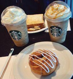Bebidas Do Starbucks, Secret Starbucks Drinks, Starbucks Menu, Starbucks Recipes, Starbucks Coffee, Tumblr Food, Snap Food, Food Snapchat, Food Goals