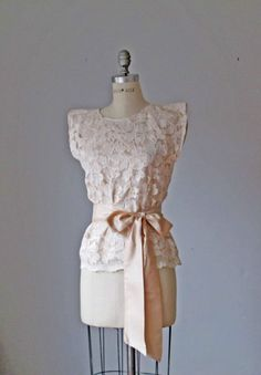 Beautiful lace blouse from the etsy shop of Atelier Signature. So Downton Abbey!
