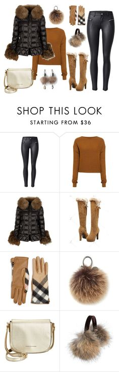 """""""Puffer Jacket"""" by emberwarrior on Polyvore featuring TIBI, Holland Cooper, Burberry, Rebecca Minkoff, Tommy Hilfiger, Overland Sheepskin Co. and Simons"""